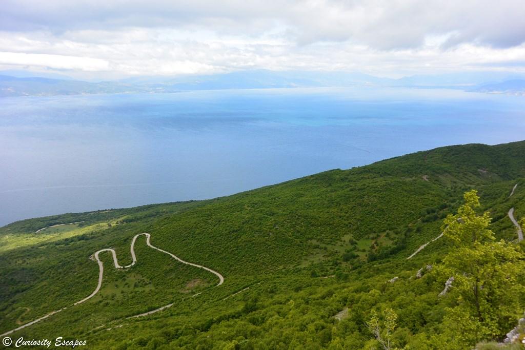 Le lac d'Ohrid vu du Parc National de Galičica
