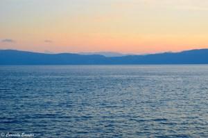 Coucher de soleil sur le lac d'Ohrid, Macédoine