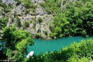 Canyon de Matka vu de la grotte de Vrelo