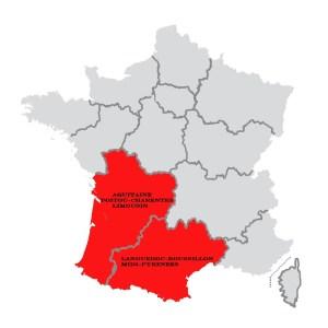 Quart Sud-Ouest de la France