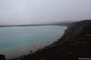 Lac de Graenavatn sous le brouillard