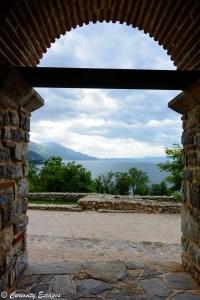 Lac Ohrid vu du monastère Sv Kliment, Macédoine