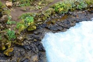 Le bleu azur de la cascade Brúarfoss