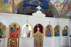 Intérieur de la chapelle orthodoxe
