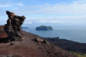 Sommet du volcan Eldfell, Islande