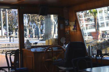 A bord du bateau sur le lac du Bourget