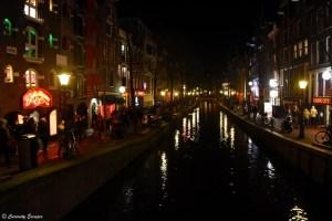 Quartier rouge d'Amsterdam