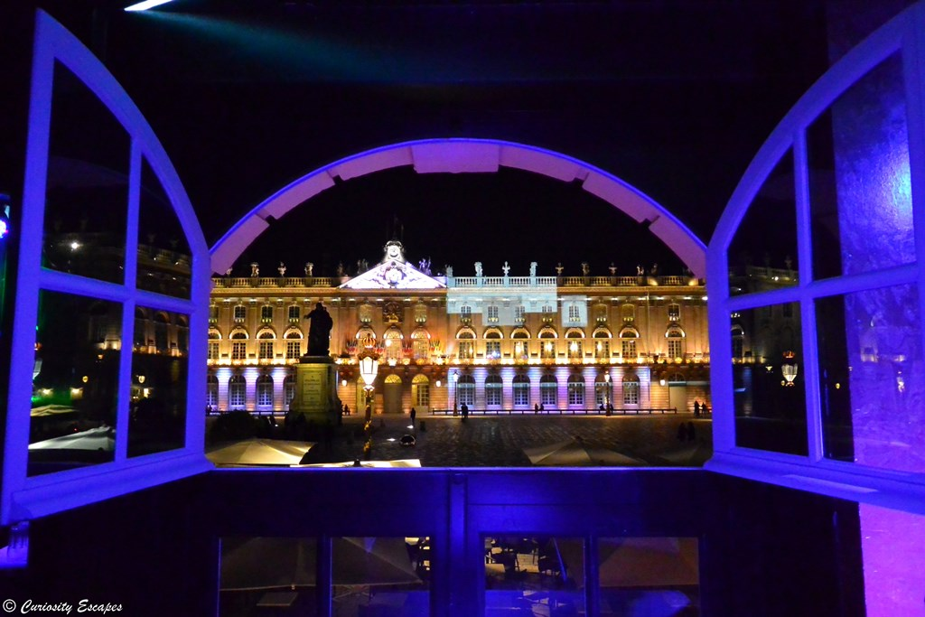Place Stanislas de Nancy de nuit