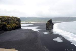 Plage de sable noire, Islande