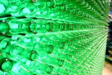 Mur de bouteilles Heineken