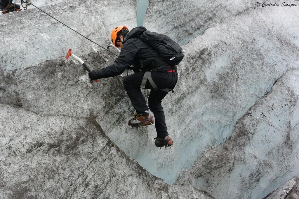 Escalade sur glacier en Islande
