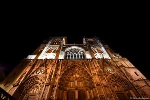 La grandiose cathédrale de Vienne, Isère.
