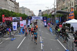 Arrivée du marathon de Belgrade