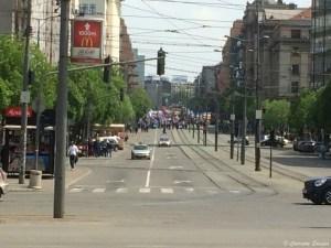 Manifestation contre le gouvernement à Belgrade