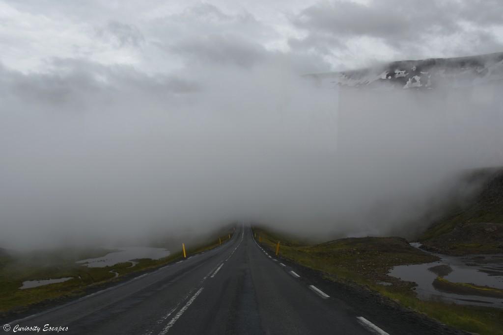 Route de Seydisfjordur en Islande
