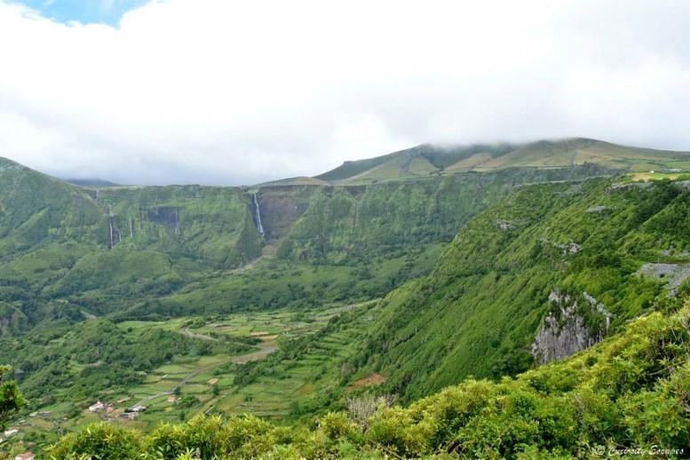 Cascades sur l'île de Flores