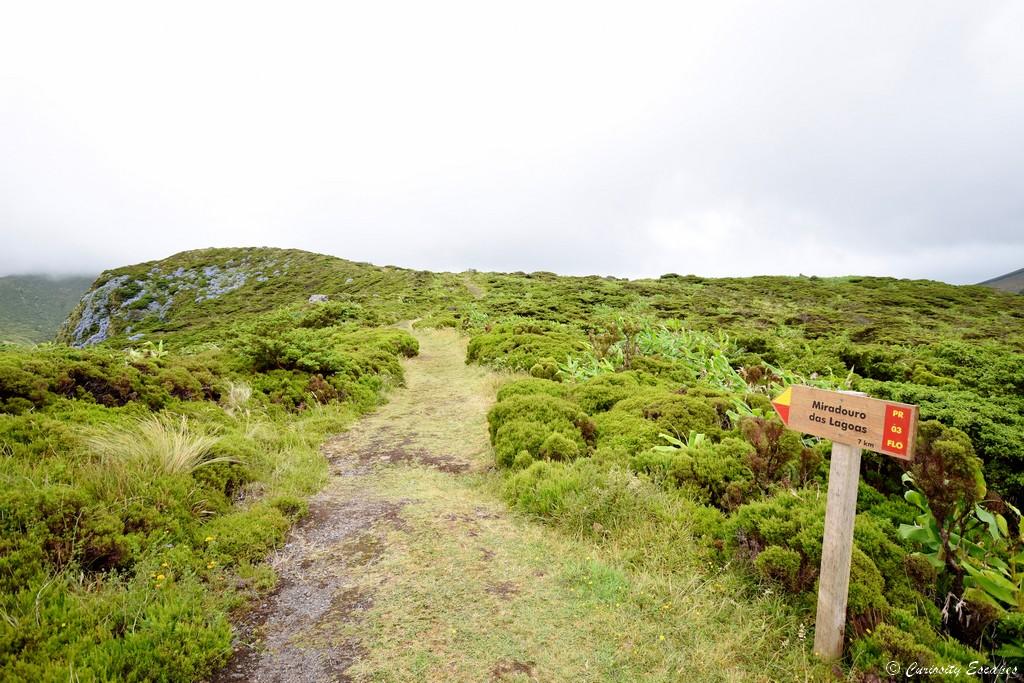 Sentier de randonnée, Flores (Açores)