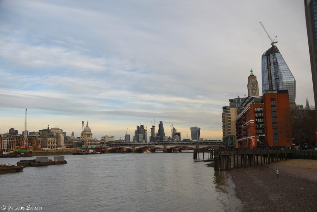 City de Londres depuis Southbank