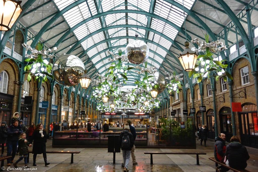 Covent Garden décoré pour noël, Londres