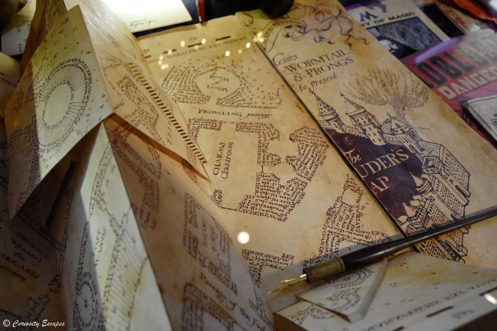 Carte du Maraudeur d'Harry Potter créée par MinaLima