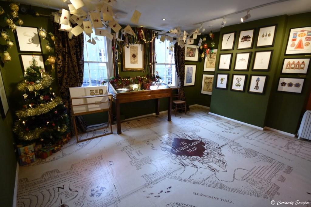 Carte du Maraudeur géante au studio MinaLima, Harry Potter