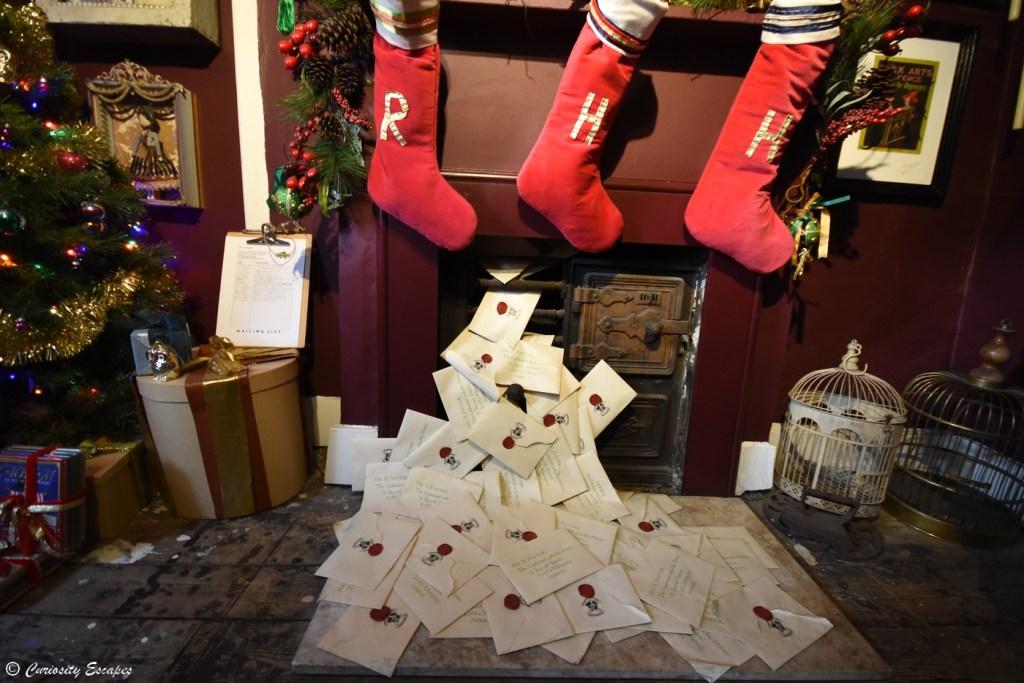 Boutique MinaLima à Londres pendant Noël