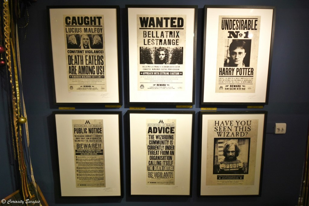 Notices du Ministère de la Magie, Harry Potter, fait par MinaLima