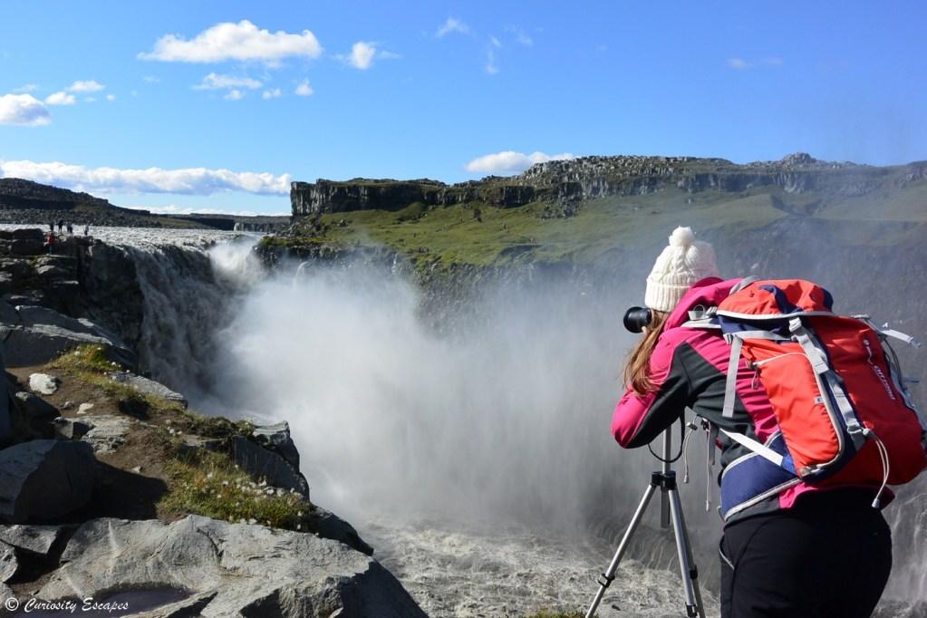 Canyon de la cascade Dettifoss dans le nord de l'Islande