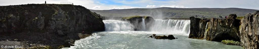 Cascade Godafoss dans le nord de l'Islande