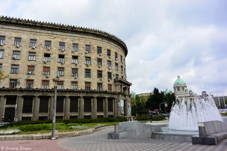Bâtiments communistes à Belgrade