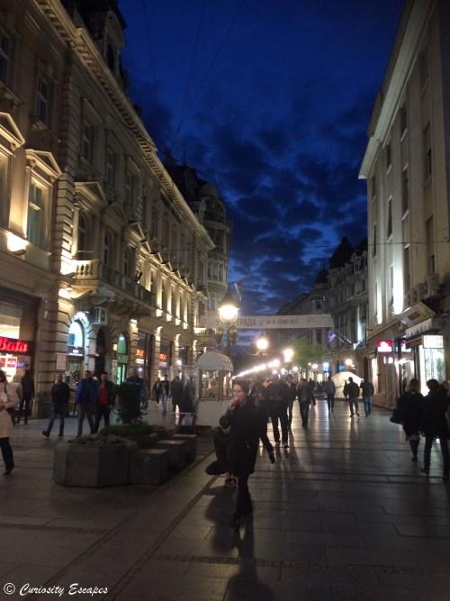 Nuit à Belgrade, Serbie