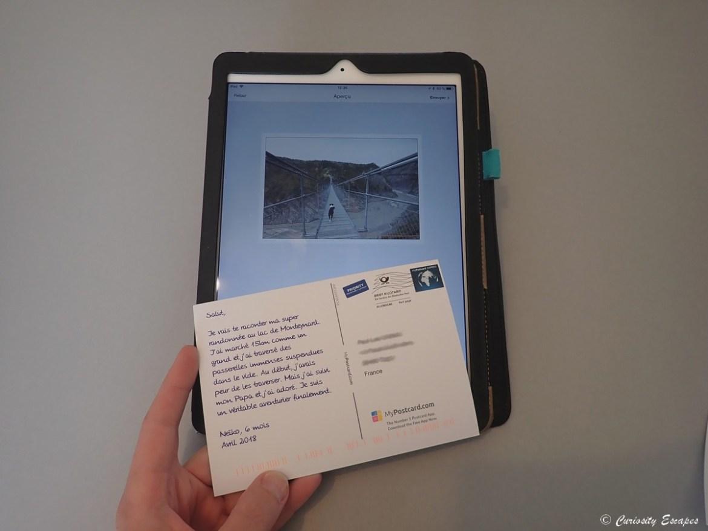 Créer une carte postale avec un ipad