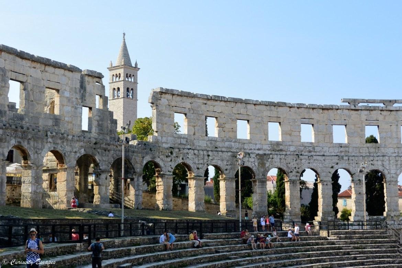 Pula en Croatie, une cité romaine en bord de mer