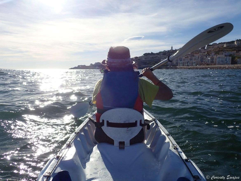 Kayak sur la côte de Sète
