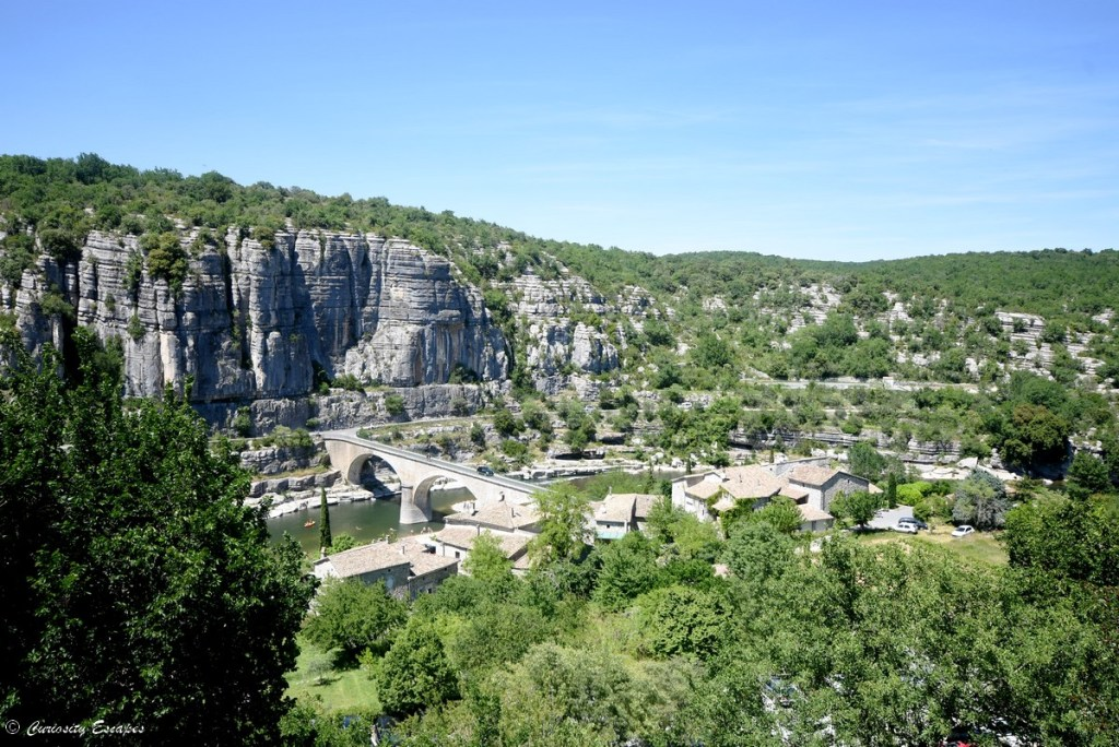 Vue depuis le belvédère de Balazuc