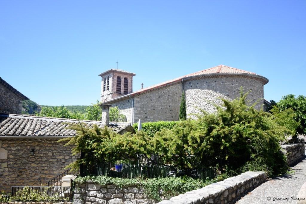 Eglise de Vogüé, village ardéchois