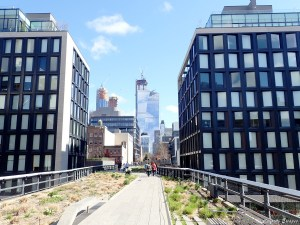 Sur la High Line, parc à New-York