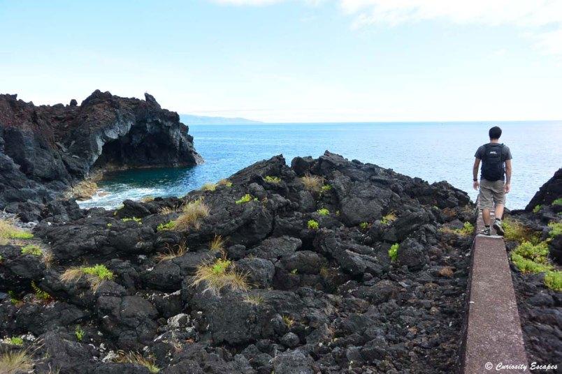 Arche de lave sur Pico, Açores
