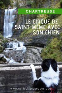 Randonner avec son chien au cirque de Saint-Même, Rhône-Alpes