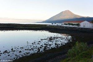 Volcan Pico depuis Lajes, Açores