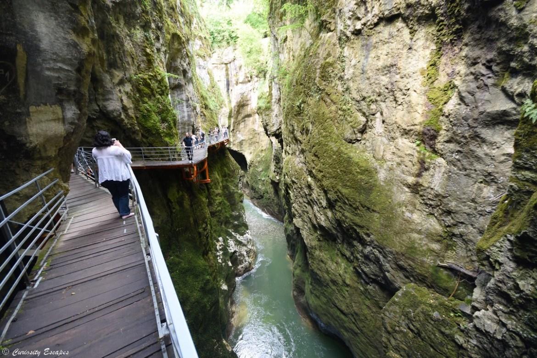 Sentier des gorges du Fier en Haute Savoie