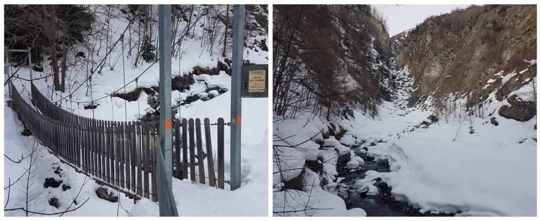 Pont du diable de Valloire en hiver