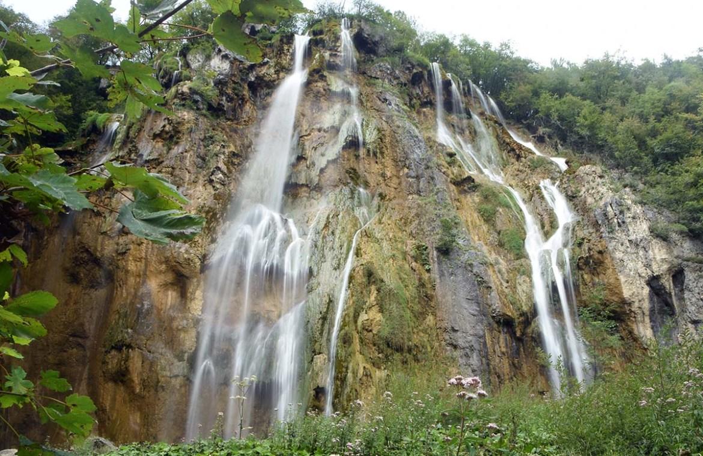 La grande cascade des lacs de Plitvice, Croatie