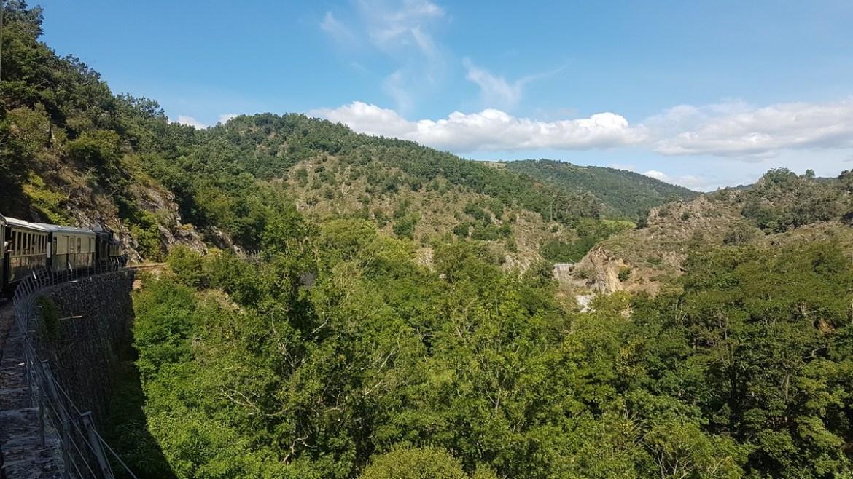 Voyage en train dans les gorges du Doux, Ardèche