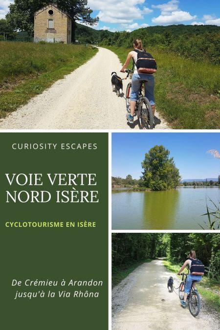 La Voie Verte cyclable du nord Isère: visites touristiques en cours de route