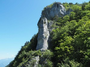 Falaises rocheuses dans le Vercors, Engins