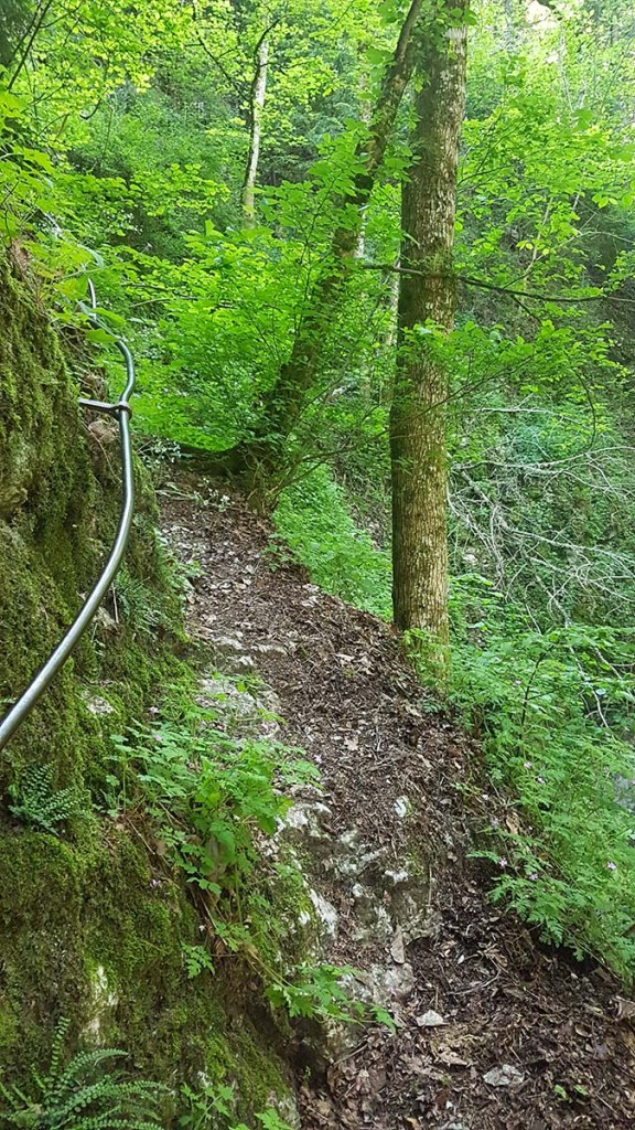 Passage avec rembardes à la randonnée d'Engins