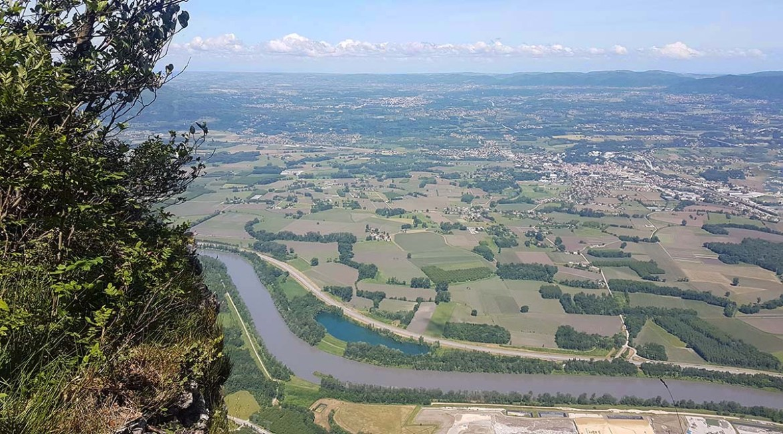 Vue de la vallée de l'Isère depuis la Dent de Moirans