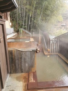 Bain public des hommes au onsen du Kurokawa Onsen