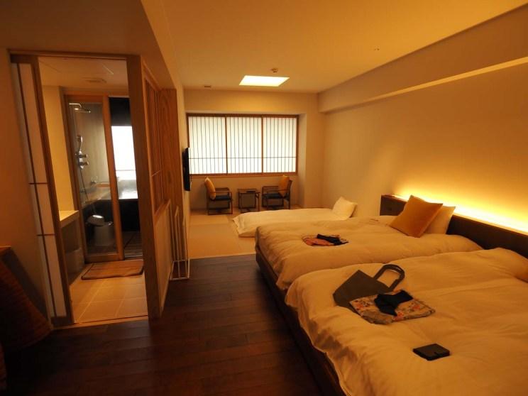 Chambre avec onsen privé dans le ryokan d'Obama